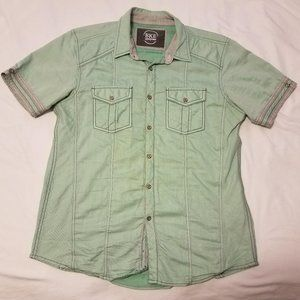 BKE Denim light green button down shirt